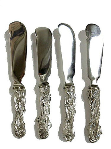 """Assorted Herb Condiment Spreaders ~ Set of 4"" ~ Table Art by Michael Michaud for Silver Seasons"