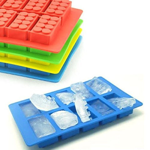 """Brick Pattern Silicone Ice Cube Jelly Tray Maker Chocolate Mold Ice Tray"" shopping"