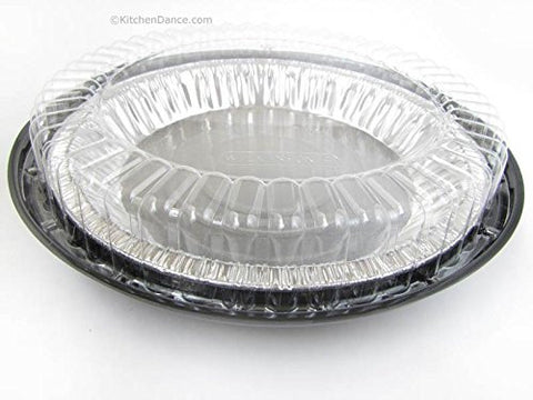 10 Inch Low Dome Plastic Disposable/Reusable Pie Carrier #WJ44 (50)