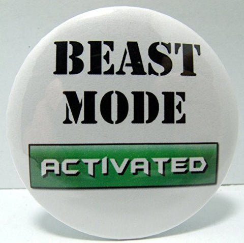 """BEAST MODE Activated"" Fridge Magnet, 2.25"""