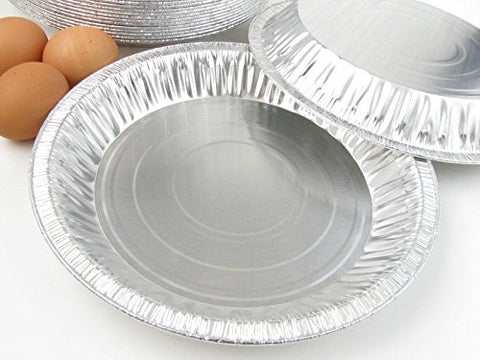 "10"" Disposable Aluminum Pie Pans #1042- Pack of 12"