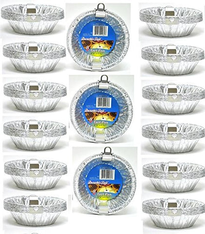 "120pk 4 3/8"" Aluminum Foil Tart Pans Disposable Mini Pot Pie Baking Plate Tins"