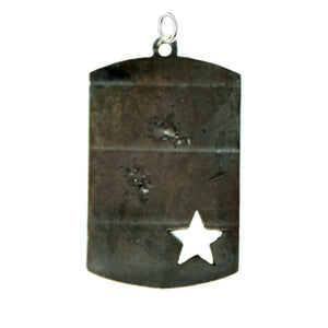 MP6 - Star Dog Tag Medium Pendant