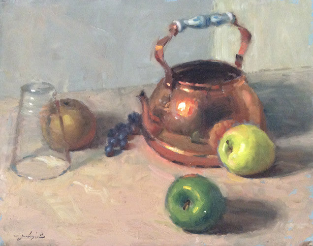 Copper Pot & Apples