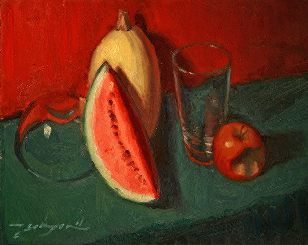 Still Life With Glass & Melon