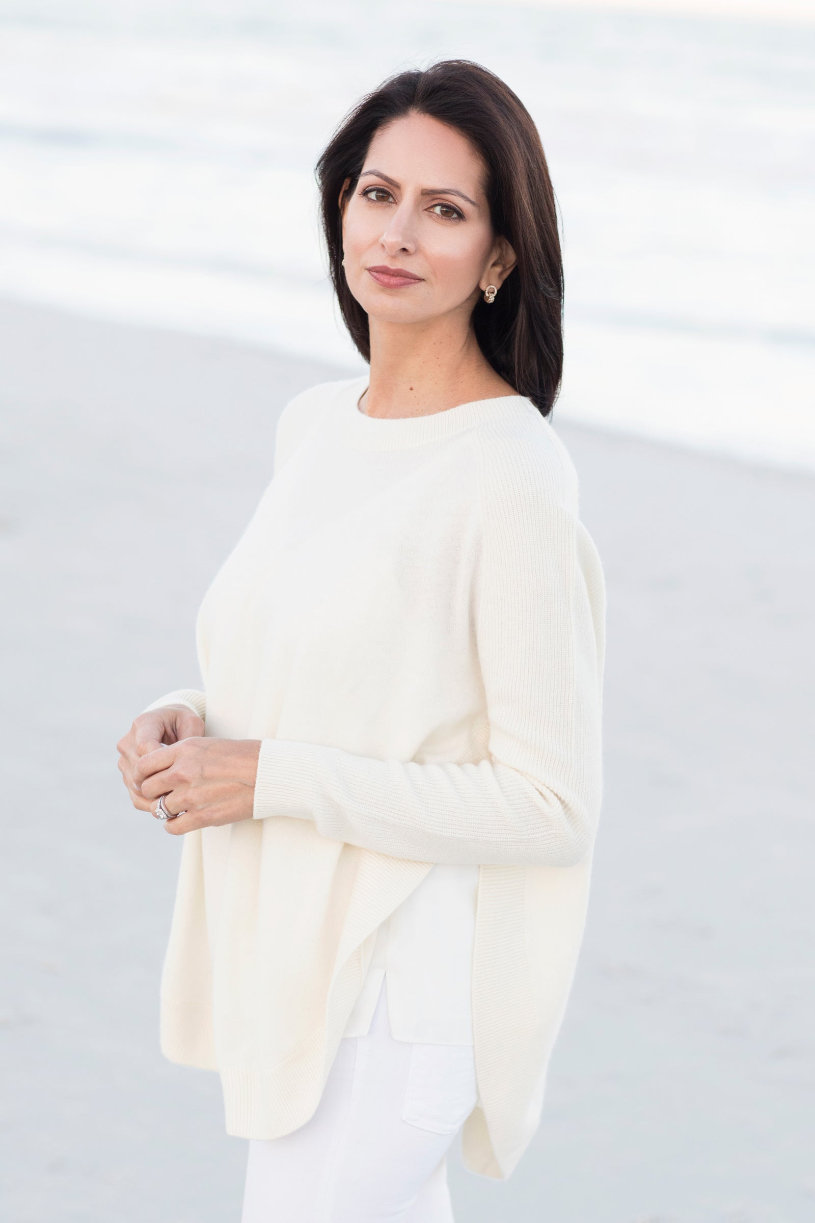 Winter Whites | Organic White Cashmere Sweaters