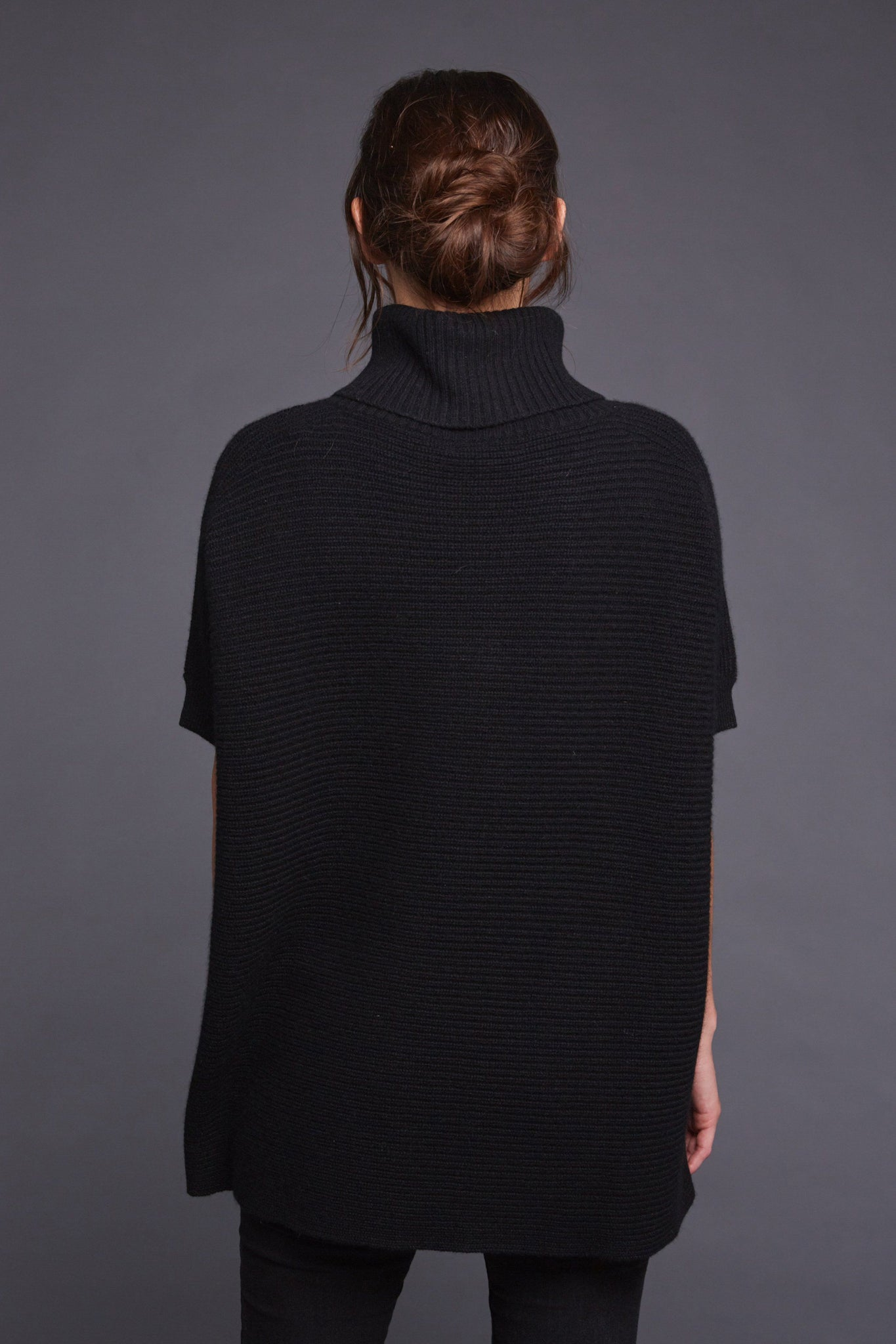 ... women s claire chunky knit oversized 100% pure organic cashmere  turtleneck sweater in black e7f9ec3d4