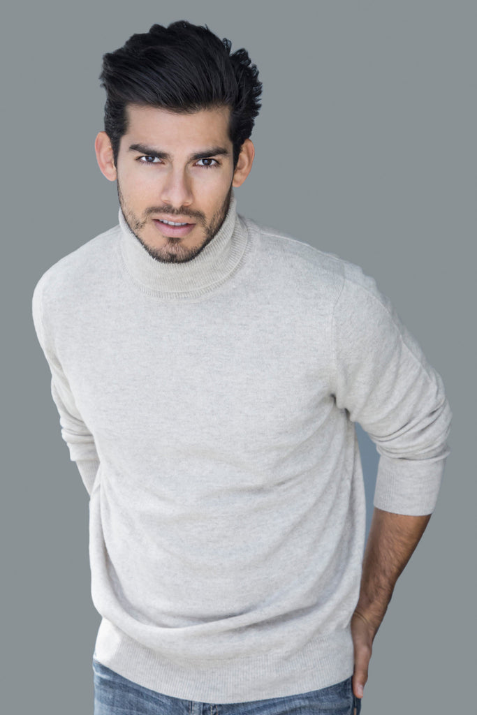 Mens Cashmere Turtleneck Sweaters Pine Cashmere