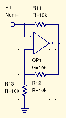 negative resistance with op amp current mirror