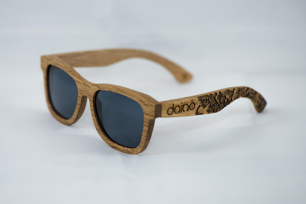 Daino Wooden Sunglasses Engraved
