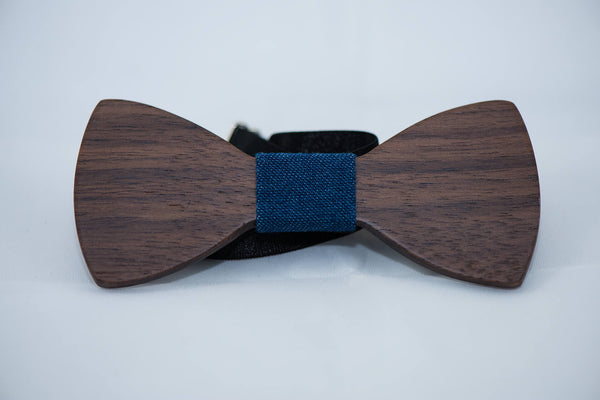 Ebony Wood BowTie - 5 Cloth Options