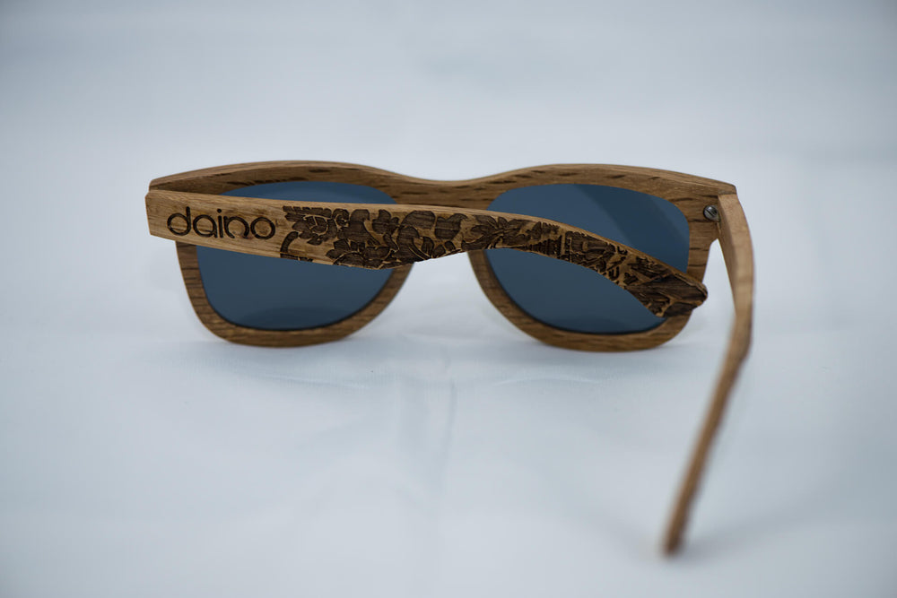 Polarized DuWood Sunglasses - Engraved - Daino Wood