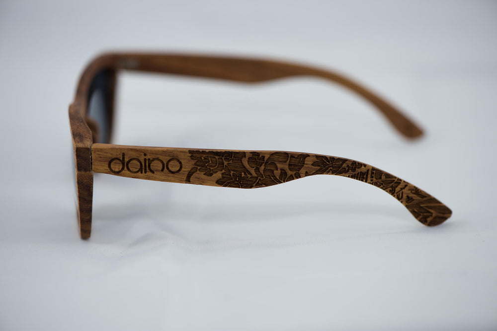 Polarized Kosso Wood Sunglasses - Engraved