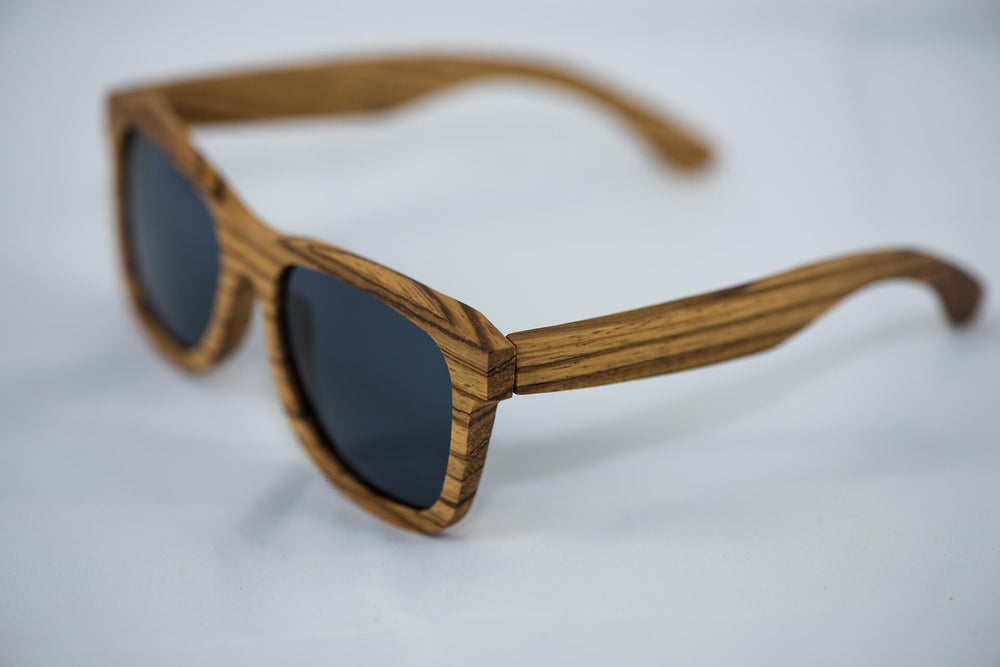 Polarized Zebra Wood Sunglasses