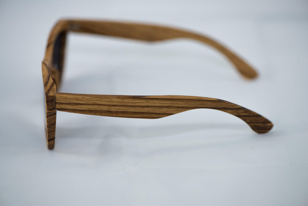 Polarized Zebra Wood Sunglasses - Daino Wood