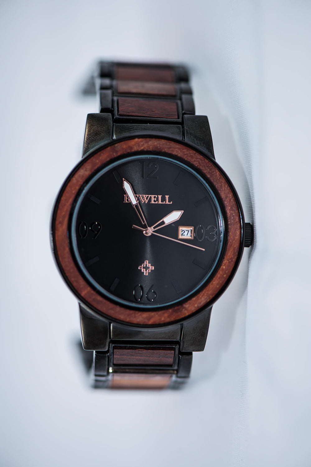 product japan function watches with new eco watch friendly calendar qurzt detail sandalwood