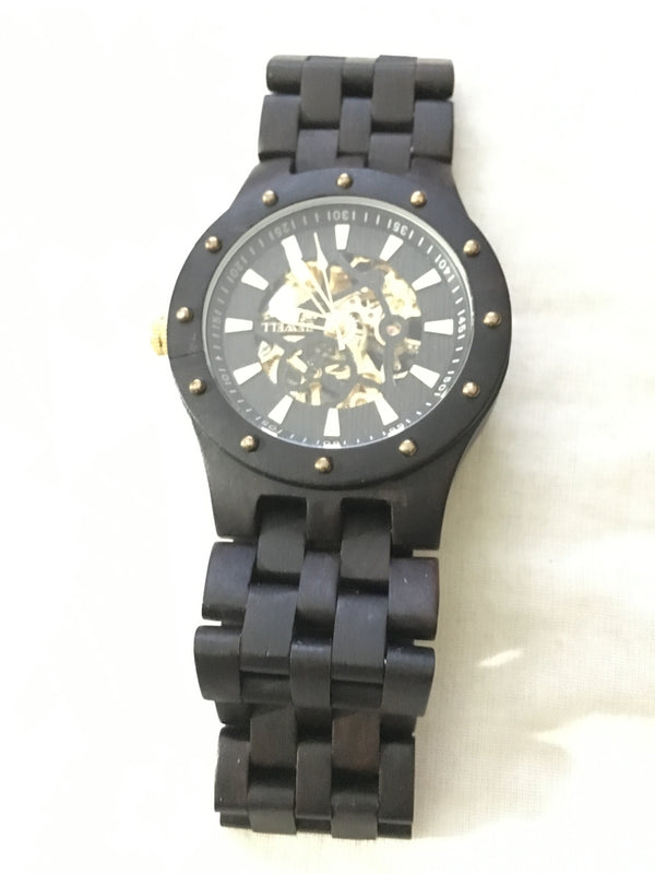 Automatic Black Sandalwood Watch