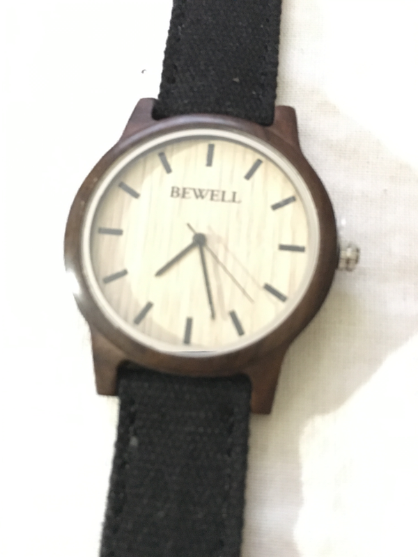 Black Sandalwood Watch w/Cloth Strap