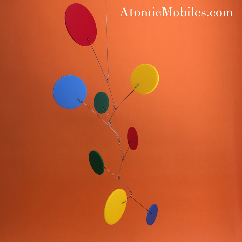 Multi Color Exuberant Hanging Art Mobile by AtomicMobiles.com