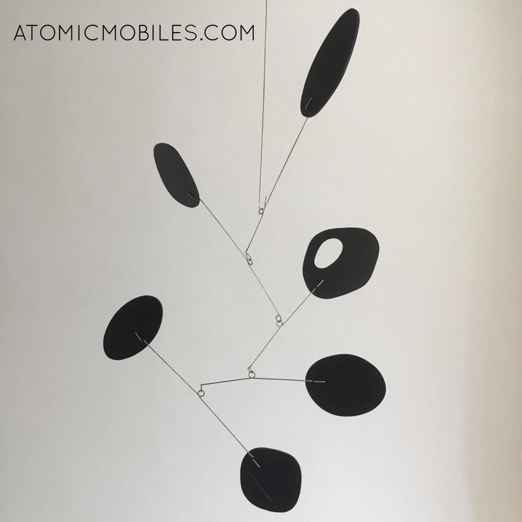 Black JetSet Hanging Art mobile for client in Brazil by AtomicMobiles.com