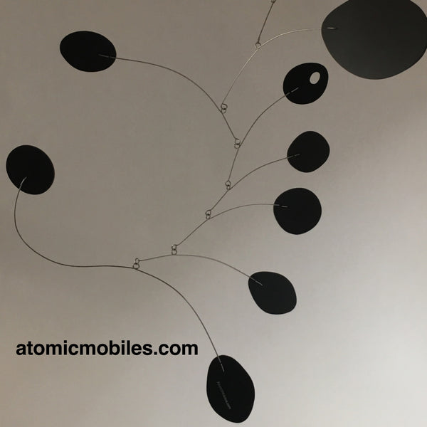 Classic Black MCM Hanging Art Mobile shipped to client in Pasadena California