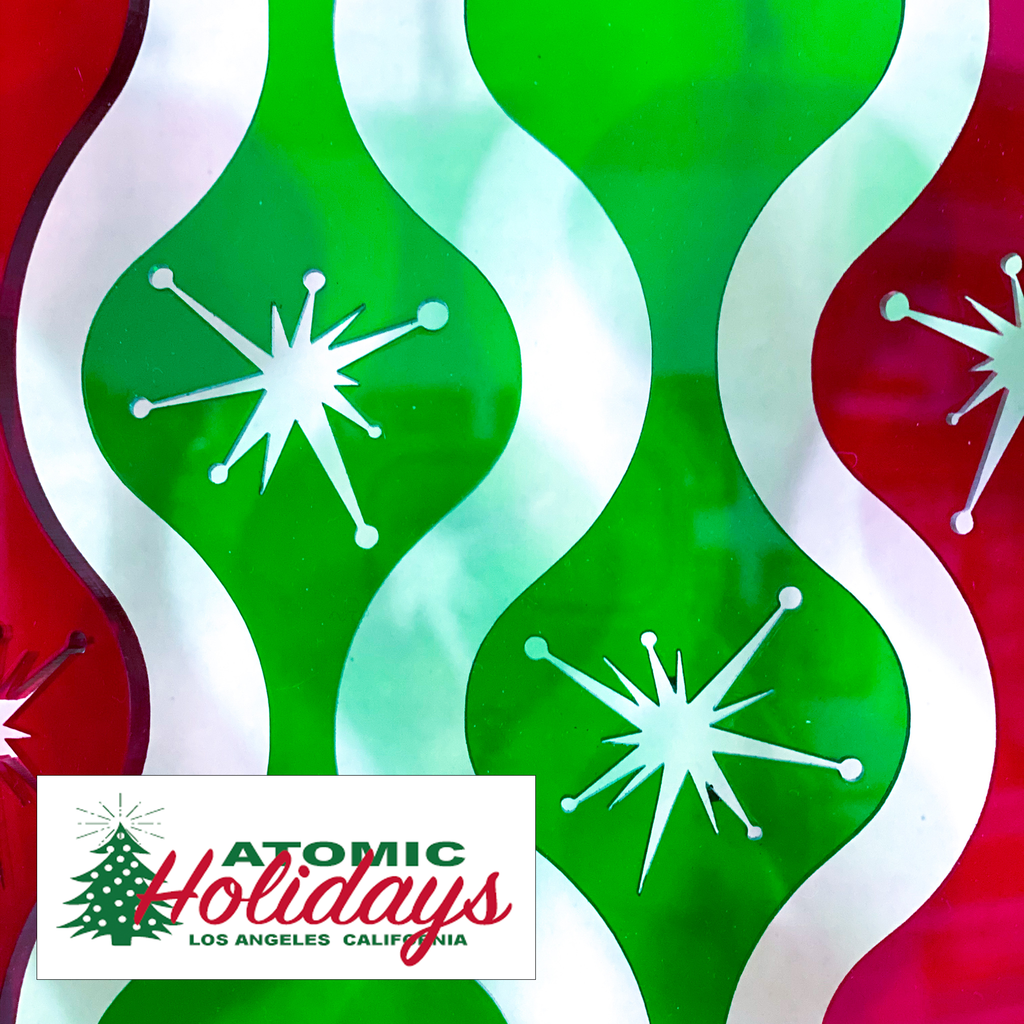 Atomic Holidays Logo - Mid Century Modern Christmas Ornaments and Decorations by AtomicMobiles.com