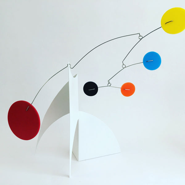 The full image of The Moderne Desktop Mobile by AtomicMobiles.com for client in multi colors - inspired by Alexander Calder