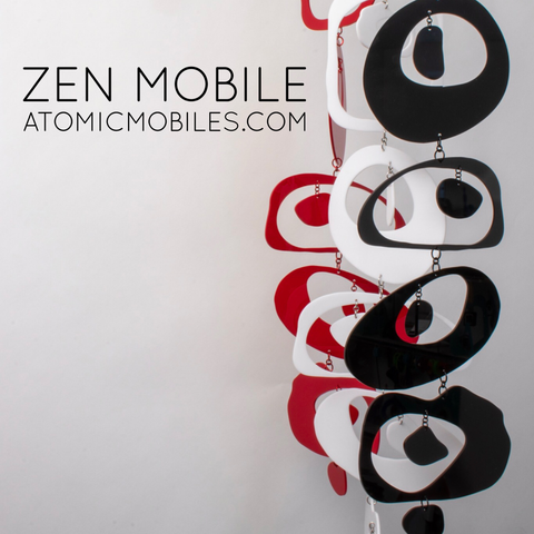 Zen Mobile by AtomicMobiles.com - calm mindfulness hanging art mobiles