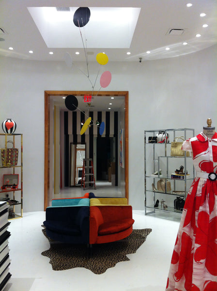 Atomic Mobiles Exuberant Mobile in Alice + Olivia store in Los Angeles California