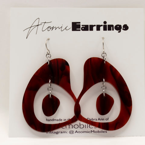Boomerang Atomic Earrings by AtomicMobiles.com - midcentury modern inspired handmade earrings