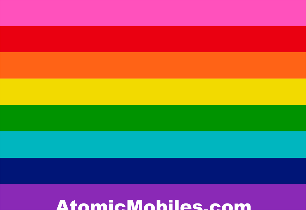 Rainbow LGBTQ+ Mobiles and Stabiles Sculptures by AtomicMobiles.com - Love Is Love