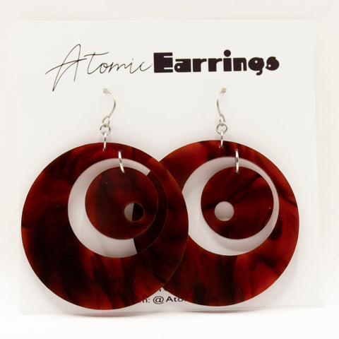 Groovy Atomic Earrings by AtomicMobiles.com - midcentury modern inspired handmade earrings