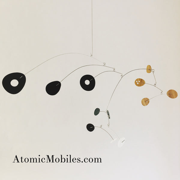 Special Bamboo & Acrylic ModCast Hanging Art Mobile by AtomicMobiles.com