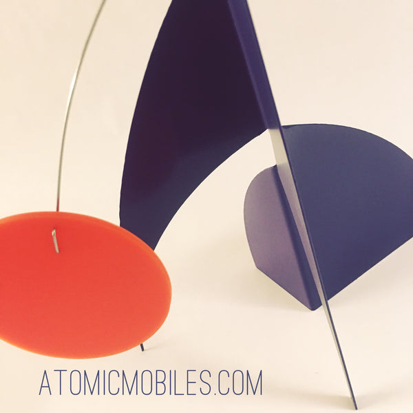 Groovy 1970s colors - The Moderne Stabile by AtomicMobiles.com - custom modern handmade art