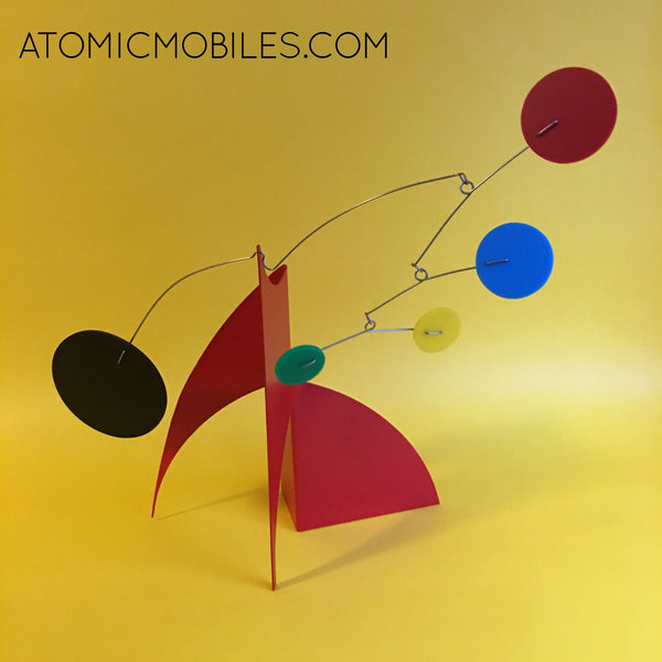Red, blue, yellow, green, black Moderne Stabile by AtomicMobiles.com