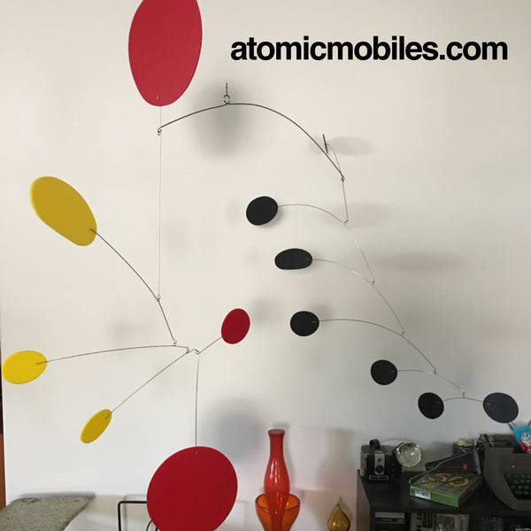 XXL Papillon Art Mobile by AtomicMobiles.com - modern handing kinetic art sculpture