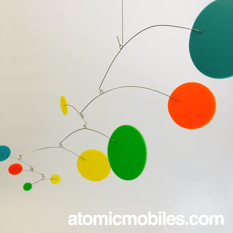MOD Mobile in Palm Springs Inspired Colors of Aqua Orange Lime and Yellow by AtomicMobiles.com