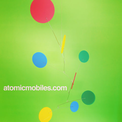 Colorful Exuberant Room Mobiles Custom Handmade by AtomicMobiles.com