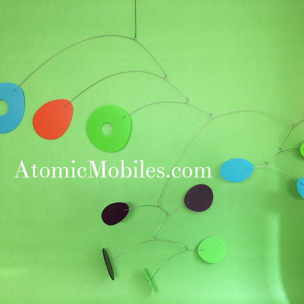 ModCast Kinetic Modern Art Mobile handmade for client by AtomicMobiles.com