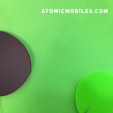 ModCast Mobile parts in purple and lime green by AtomicMobiles.com