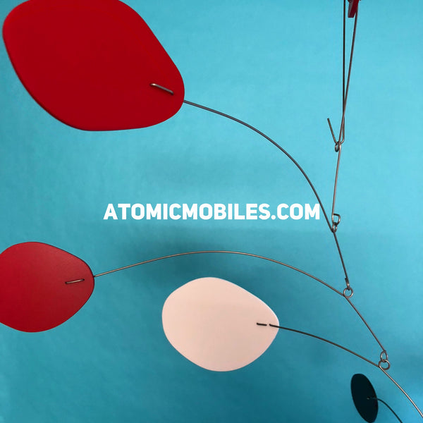 The MCM in red white and black - Mid Century Modern Art Mobile by AtomicMobiles.com