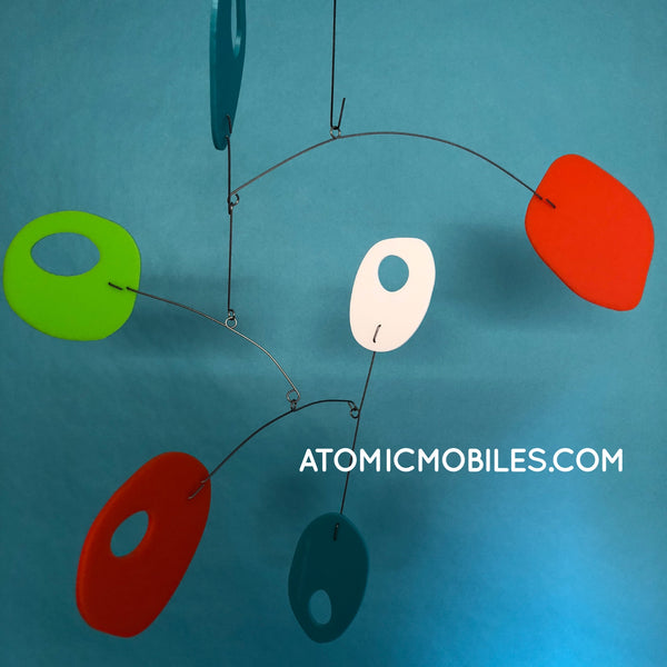 Retro in Palm Springs Colors - Mid Century Modern Art Mobile by AtomicMobiles.com