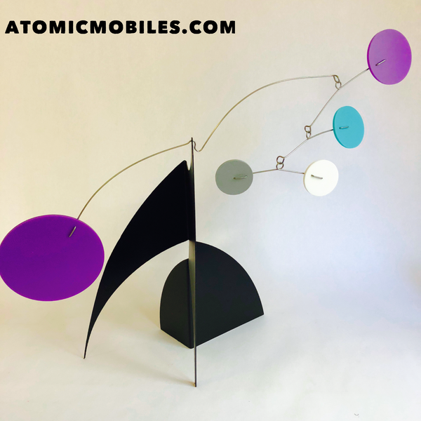 The Moderne Kinetic Modern Art Stabile Sculpture by AtomicMobiles.com