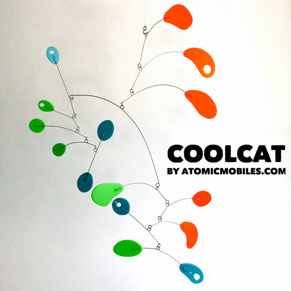 Cool Cat Modern Art Mobile in Palm Springs Colors - by AtomicMobiles.com