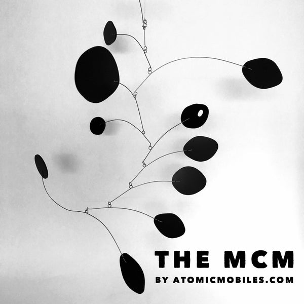 The MCM - Mid Century Modern - Hanging Art Mobile in all black by AtomicMobiles.com