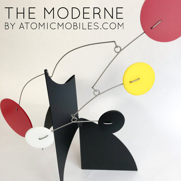 The Moderne Art Stabile Sculpture by AtomicMobiles.com