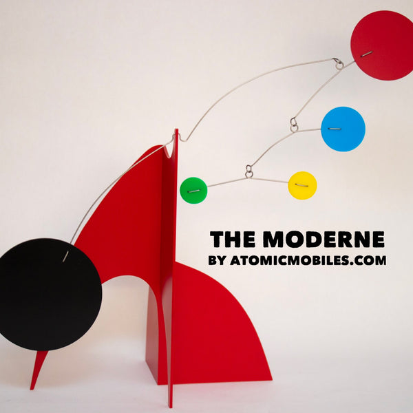 The Moderne Kinetic Art Sculpture Mobile by AtomicMobiles.com