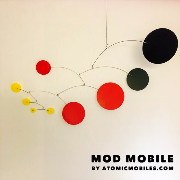 Gorgeous Red Yellow and Black MOD Mobile by AtomicMobiles.com - Handmade in Los Angeles!