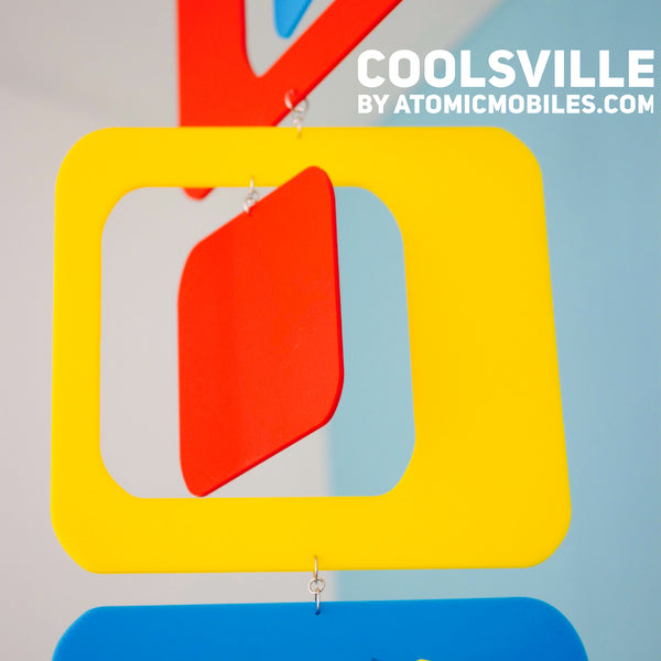 Coolsville Bold Retro Vertical Mobile by AtomicMobiles.com - bright colors!