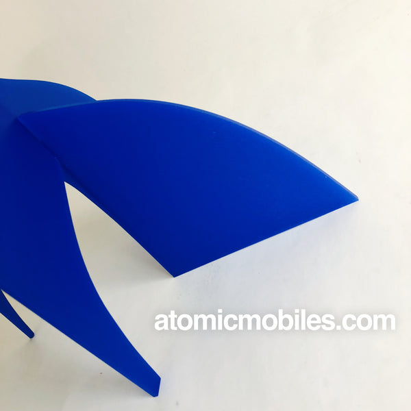Gorgeous mod blue and white table top mobile - The Moderne Stabile - by AtomicMobiles.com